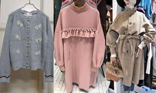 针织|卫衣|系带:韩国东大门初秋零售分析