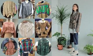 【韓國東大門】高領|毛衣外套|絎縫羽絨服