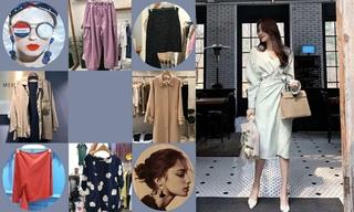 【韓國東大門】珍珠裝飾|短款外套|面料拼接|羽絨服